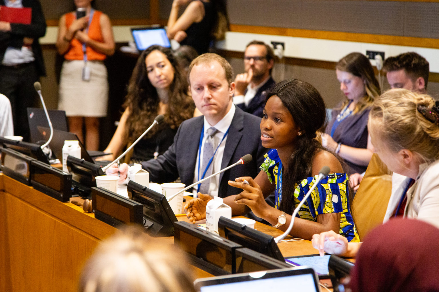 A youth advocate at the UN