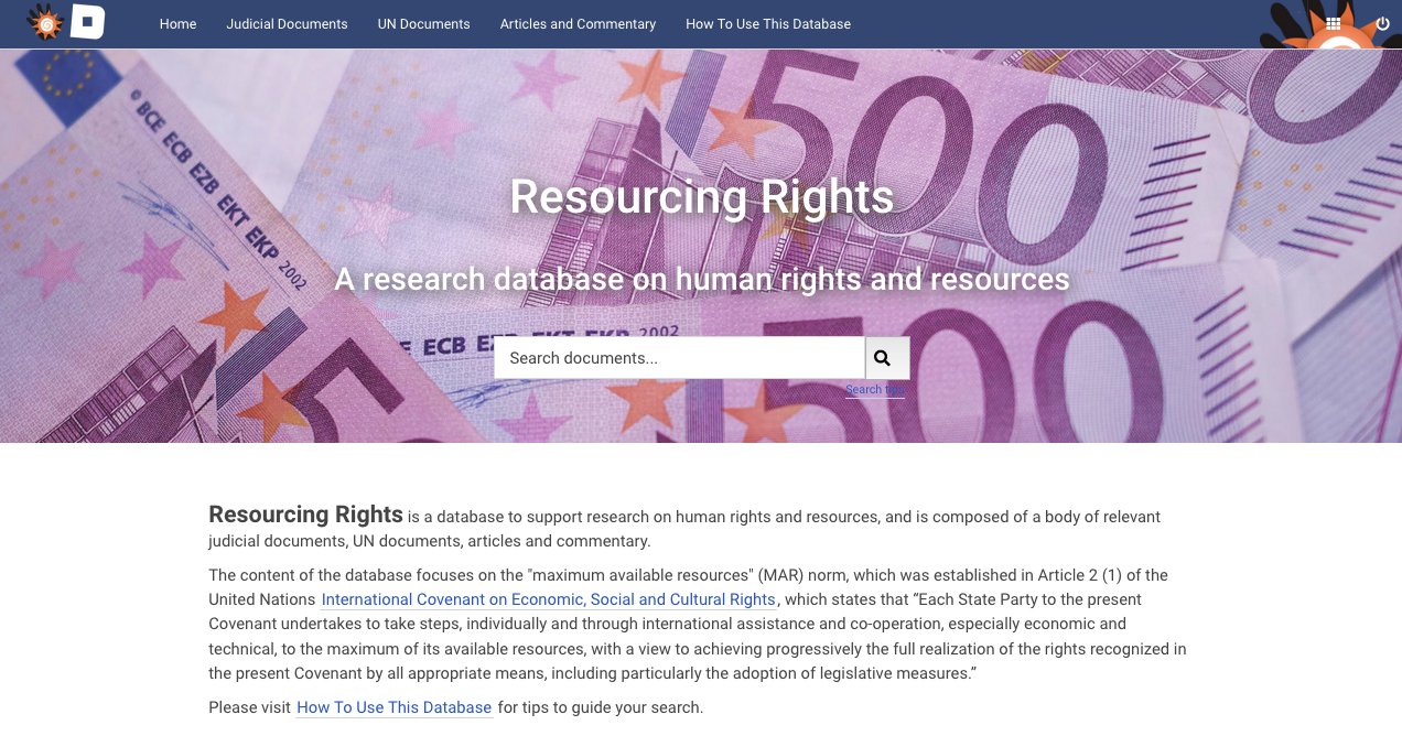 Resourcing Rights database