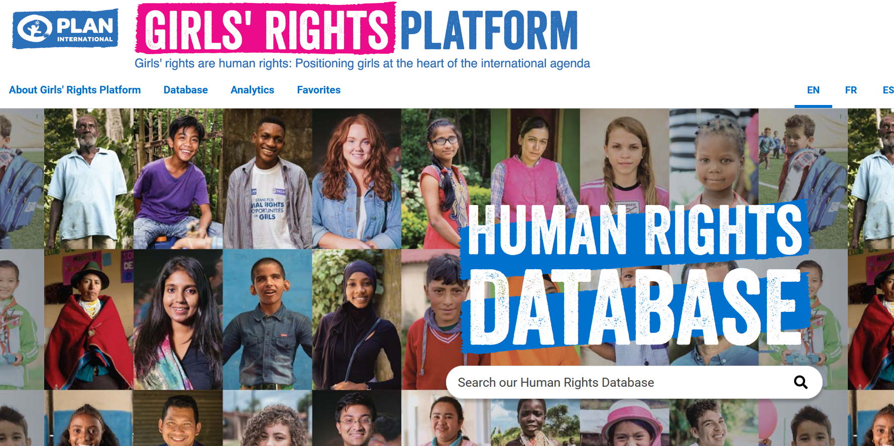 Girls' Rights human rights database