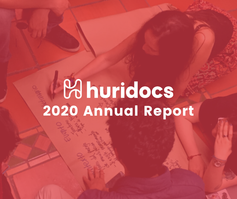 HURIDOCS 2020 annual report share image